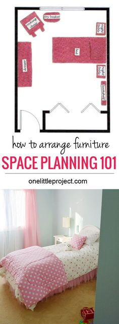 How to arrange furniture in a toddler's bedroom.  Tips and tricks to get the best layout for the space. DIy Furniture plans build your own furniture #diy