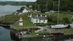 Mike Ward stopped off in Crinan during a wedding anniversary trip back home to Scotland.
