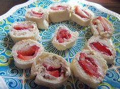 Strawberry & Cream Pinwheel Appetizers