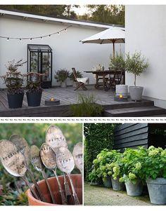 \(^o^)/ garden inspiration Outdoor Retreat, Outdoor Rooms, Outdoor Decor, Side Garden, Terrace Garden, Outdoor Plants, Outdoor Gardens, Scandinavian Garden, Outdoor Settings