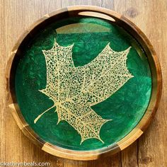 Round Acacia Trays — Kathryn Beals Serving Tray Wood, Round Tray, Acacia Wood, Clay Art, Trays, Decorative Plates, Resin, Paintings, Abstract