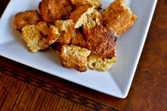 bacon cheddar croutons....great for fall weather, soups, stews, you name it!