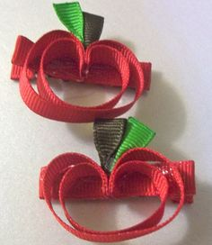 apple ribbon clips