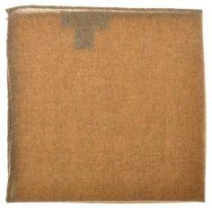 Battisti Napoli Pocket Square Wool Brown Solid W/ Border 41PS0128 $140