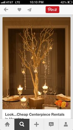 Tall Tree candle dangle centerpiece