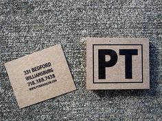 Business Cards for PT Brooklyn Restaurant by Editorial Pinch