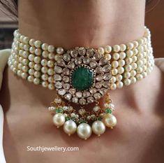 Jewelry Design Earrings, Gold Jewellery Design, Bead Jewellery, Gold Jewelry, Beaded Jewelry, Fine Jewelry, Bridal Jewelry Sets, Bridal Jewellery, Wedding Jewelry