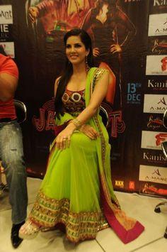 Sunny Leone in green anarkali suit