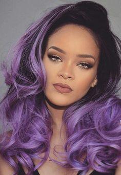 Rihanna edit. PURPLE ombre hair