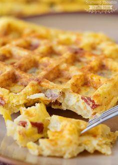 Potato, Egg and Cheese Waffles