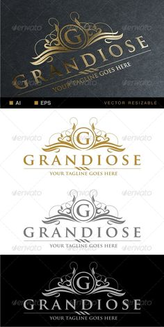 Grandiose Logo Template — Vector EPS #majesty #jewelry • Available here → https://graphicriver.net/item/grandiose-logo-template/6746655?ref=pxcr