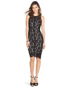 I heart this dress! White House | Black Market Lace Sheath #whbm