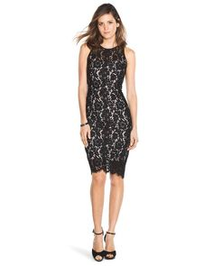 White House | Black Market Lace Sheath #whbm