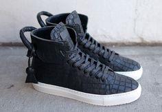 """En Noir x Buscemi 125mm Shoe """"Black Croc"""""""