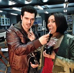 Michael Malarkey and Kat Graham Share A Drink BTS of #TVD Season 5 (PHOTO) http://sulia.com/channel/vampire-diaries/f/72ae4193-204a-40a6-a9f9-10c5b5bbeace/?source=pin&action=share&btn=small&form_factor=desktop&pinner=54575851