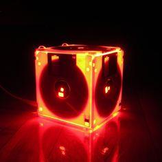 Luminária feita com disquetes