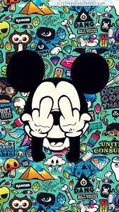 Mickey dedos de almedio, cool y genial, lo tendría si es que mi mama o mi papa no vieran mi célu :'D
