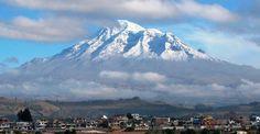 In Riobamba admiring the mighty Chimborazo volcano.  via-www.ecuador.travel