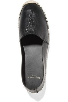 Sole measures approximately 10mm/ 0.5 inches Black leather Slip on Made in Spain