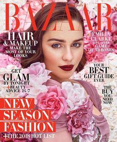 Featured Article: Emilia Clarke for Harper's Bazaar US December 2017/January 2018 | Art8amby's Blog