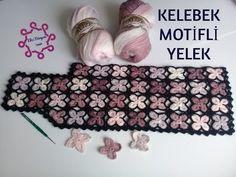 Butterfly Motif Vest (Made of Motif) Modern Crochet Patterns, Crochet Motifs, Knitting Patterns, Pull Crochet, Knit Crochet, Crochet Hats, Granny Square Häkelanleitung, Granny Square Crochet Pattern, Borboleta Crochet