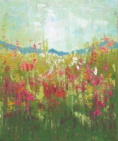 """Daily Paintworks - """"Deep in the Field"""" - Original Fine Art for Sale - © Sue McLean"""