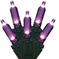 NorthLight Purple LED Mini Christmas Lights, Green Wire, Set Of 100 Features. LED lights use 90 less energy. Lights are equipped with Lamp Lock feature which Led Rope Lights, Indoor String Lights, Christmas String Lights, Holiday Lights, Light String, Light Led, Grandfather Clocks For Sale, Nightmare Before Christmas Tree, Flameless Candles With Timer