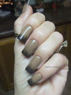 Diane Graham's custom-fit nails look so pretty with this stylish ombre design! Follow her at http://pinterest.com/simmi5/ to see all her fab nail art, and get your own set of beautiful and everlasting custom-fit nails at http://www.customnailsolutions.com/ .
