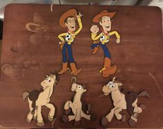 Woody and Bullseye die cuts from Toy Story Set of 5 die cuts by scrappinbjs. Explore more products on http://scrappinbjs.etsy.com