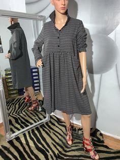 Dresses With Sleeves, Costume, Shirt Dress, Long Sleeve, Modern, Shirts, Fashion, Moda, Shirtdress