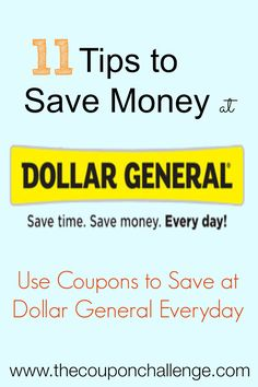 11 tips to save money at Dollar General - Dollar General is the largest small-box discount retailers in the US.  They offer competitive prices on national brands and provide several ways to save with coupons.