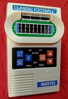 Let me take you back to the year 2000 with this retro game from Mattel Classic Football Handheld Video Game System, from 2000, Great Condition. #classic #retro #gaming #game #mattel #classicfootballgame #handheld #retrogaming