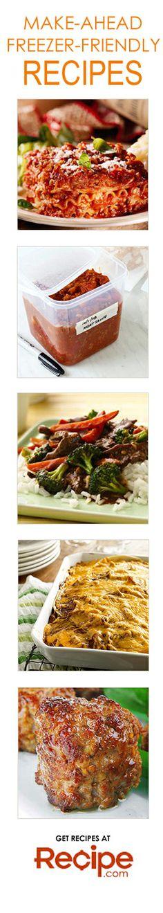Make-Ahead Freezer-Friendly Meal Ideas