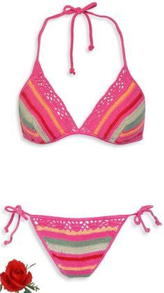 Crochet Wave Pattern bikini                                                                                                                                                      Más