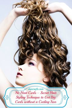 noheat-curls ~~ you sleep on bun curls you create by twisting and twirling. Lastly, secure with one Bobbi Pin.