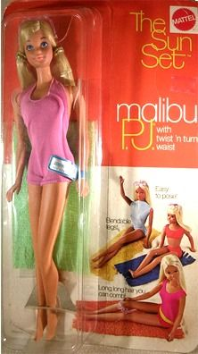 """Barbie The Sun Set Malibu PJ Box # 01187 Value and Details.I had this :), and this is for those who believe the """"Ideal Woman"""" is Ken's woman, Barbie."""