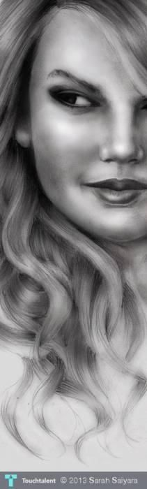 Taylor Swift (zoomed)  #Creative #Art #Sketching @touchtalent.com