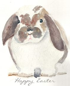 Watercolor Bunny (Free Printable) - Finding Silver Pennies - New Ideas Hoppy Easter, Easter Bunny, Watercolor Animals, Watercolor Paintings, Watercolors, Easter Paintings, Watercolor Ideas, Lapin Art, Bunny Art