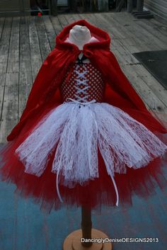 Little Red Riding Hood TUTU DRESS and Cape by AllDressedUpCouture, $60.00