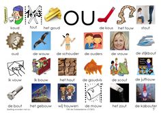 Afkijkplaat OU Dutch Language, Language Arts, Learn Dutch, Expressions, Alphabet Activities, Kids Writing, Creative Teaching, Love My Job, Kids Education
