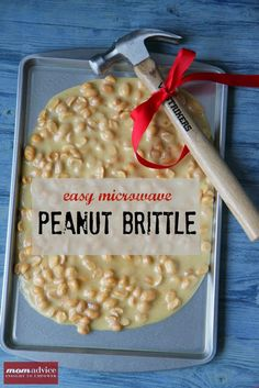 Easy Microwave Peanut Brittle (with supplies bought from the dollar store). A super fast gift to create! - MomAdvice