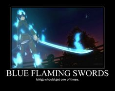 ao no exorcist funny   Ao no Exorcist: Swords by LOLHichigo...... and what's the best part is that in the English version Ichigo's voice actor is same as Yukio's