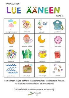 Finnish Language, Occupational Therapy, Kindergarten, Teacher, Education, Comics, Crafts, Inspiration, Biblical Inspiration