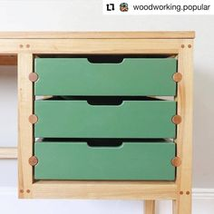 The video for my build is up! (Link in bio) this was such a fun project to figure out. The dowel drawer slides ended up being super… Plywood Furniture, Cool Furniture, Furniture Outlet, Discount Furniture, Furniture Design, Wood Projects, Woodworking Projects, Woodworking Clamps, Joinery Details