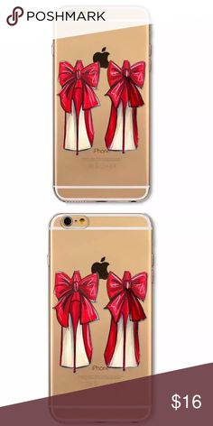 Red bow deluxe heel case Clear red bow heel case. New in package iPhone 7 Accessories Phone Cases