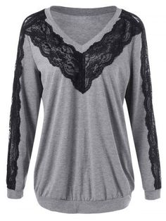 GET $50 NOW | Join RoseGal: Get YOUR $50 NOW!http://m.rosegal.com/plus-size-hoodies/plus-size-lace-trim-v-971802.html?seid=7920041rg971802