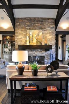 Decorating Solutions Tip of the Week: Showcasing Tall Fireplaces ...