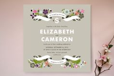 Banner and Branches Wedding Invitations by Alethea and Ruth at minted.com