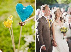 Pretty yellow wedding