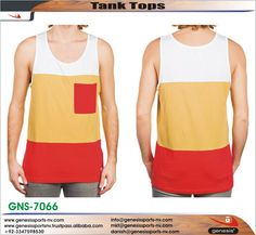 Tank Top: Made of Cotton but could be possible to produce as per your required one color, logo, style, size, fabrication and other requirements and specifications and for more information please to write back our direct id danish@genesissports-nv.com